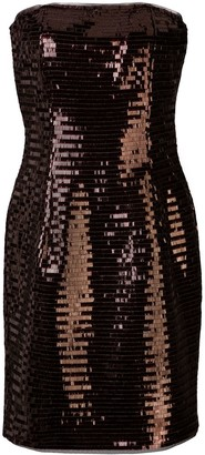 HANEY Naomi fitted sequin-embellished dress