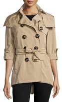 Burberry Knightsdale Hooded Relaxed Trenchcoat, Honey