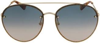 Gucci Aviator-Frame Metal Sunglasses