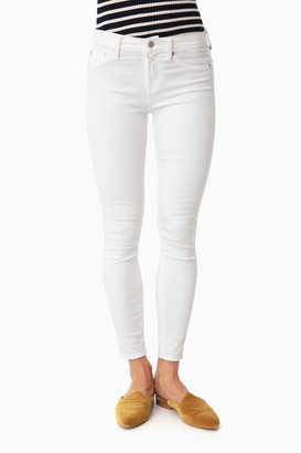 7 For All Mankind Clean White Ankle Skinny Jeans