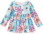 First Impressions Baby Girls' Long-Sleeve Floral-Print Babydoll Tunic, Only at Macy's