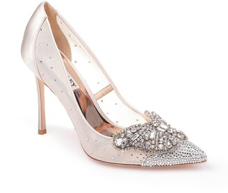 Badgley Mischka Quintana Crystal Embellished Pointed Toe Pump