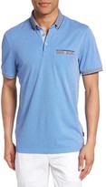 Ted Baker Men's Shapiro Extra Trim Fit Oxford Polo