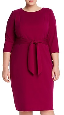 Adrianna Papell Knit Crepe Tie-Waist Dress