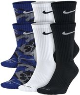 Nike Men's 6-pack Dri-FIT Performance Crew Socks