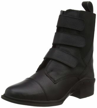 Rhinegold Elite Montana Velcro Paddock Boot-6(39)-Black UK EU
