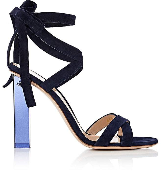Gianvito Rossi Women's Suede Ankle-Tie Sandals