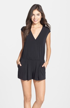 BCBGeneration Cap Sleeve V-Neck Romper
