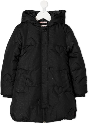 Billieblush Quilted Heart Padded Jacket