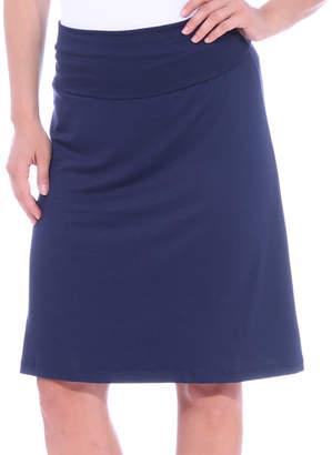 Brooke & Emma Women's Casual Skirts NAVY - Navy Fold-Over Knee-Length Skirt - Women