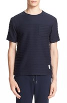 Thom Browne Men's Textured Knit Pocket T-Shirt