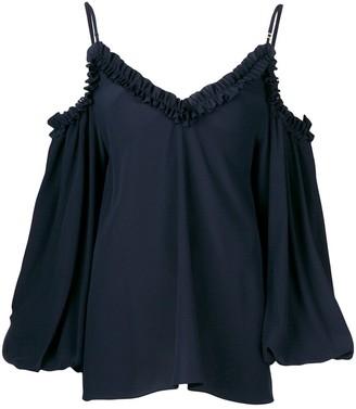Stella McCartney ruffled cold shoulder blouse