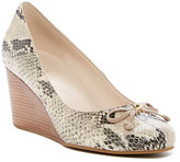 Cole Haan Elsie Snake Embossed Wedge Heel