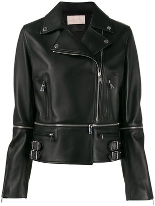 Christopher Kane Zip Details Biker Jacket