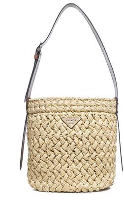 Prada Wicker Bucket Bag