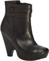 Max Studio Nestor - Burnished Leather Scooped Wedge Booties