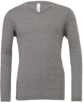 Starlite_BellaCanvas Mens Triblend Tee-Long Sleeve V-Neck T-Shirts by Bella+Canvas-Grey Triblend-M