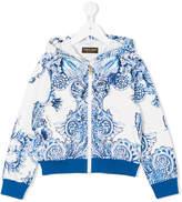 Roberto Cavalli baroque print hoodie
