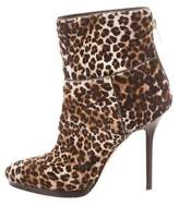 Jimmy Choo Leopard Ponyhair Ankle Boots