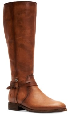 Frye Women's Melissa Belted Leather Boots Women's Shoes