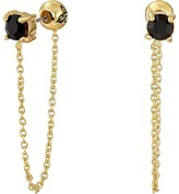 Sam Edelman Stone Front Back Chain Earrings