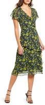 ALL IN FAVOR Flutter Sleeve Midi Dress