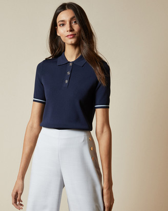 Ted Baker VILLIY Knitted polo top