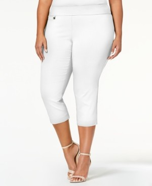 Alfani Plus Size Tummy-Control Capri Pants, Created for Macy's