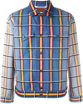 J.W.Anderson striped denim jacket - men - Cotton - 44