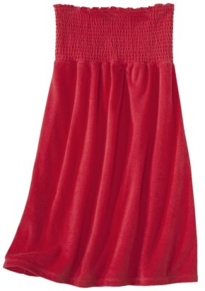 Xhilaration Juniors Smocked French Terry Swim Coverup Dress -Assorted Colors