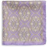Robert Talbott Medallion Silk Pocket Square