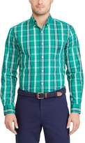 Chaps Men's Classic-Fit Patterned Stretch Easy Care Button-Down Shirt