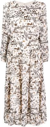 Saloni Isabel printed midi dress
