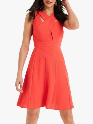 Damsel in a Dress Melita Cut Out Detail Dress, Cherry