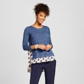 Xhilaration Women's Knit-to-Woven Long Sleeve Juniors')
