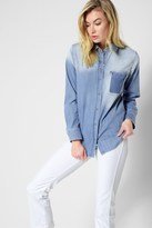 7 For All Mankind Vintage Boyfriend Denim Shirt In Oceana Authentic Blue