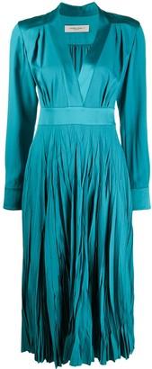 Golden Goose Pleated Midi Dress