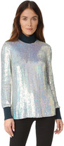 3.1 Phillip Lim Long Sleeve Iridescent Sequin Top