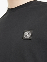 Stone Island Black Cotton Logo T-Shirt