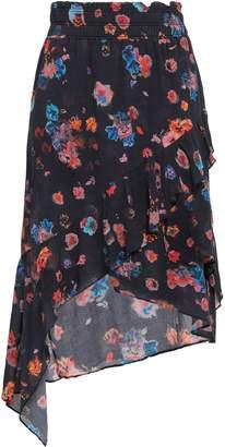 IRO Wrap-effect Floral-print Gauze Skirt