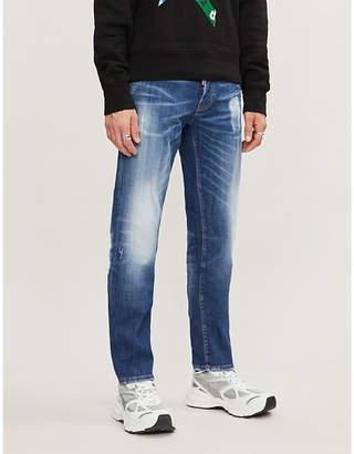 DSQUARED2 Faded stretch-denim slim jeans