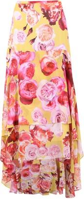 Pinko Asymmetric Floral Print Maxi Skirt