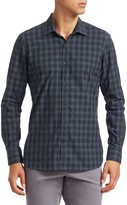 Saks Fifth Avenue MODERN Long Sleeve Plaid Shirt