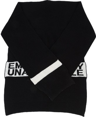Emotionally Unavailable knit scarf