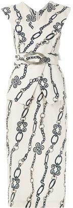 Framed Chain midi dress