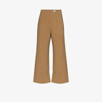 ST. AGNI Kazashi high waist cropped trousers