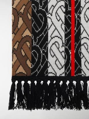 Burberry Monogram Stripe Cashmere Scarf