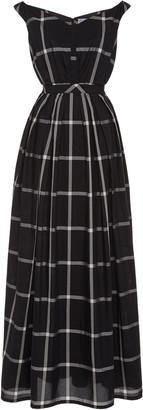 Thierry Colson Valeria Checked Cotton-Silk Dress