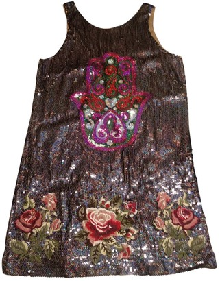 Manoush Silver Silk Dress for Women