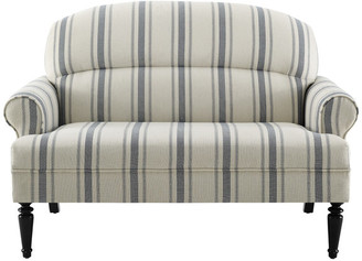 Cambridge Silversmiths Homefare Roll Arm Upholstered Sofa, Blue Stripe